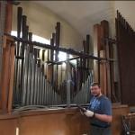 Abbau Herz Jesu Orgel